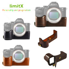limitX Pu Leather Case Bottom Opening Version Protective Half Body Cover Base For Sony Alpha A7 III 3 / A7R III 3 Digital Camera
