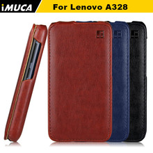 IMUCA Brand Phone Cases For Lenovo A328 Case Cover Vertical Flip Protective Case For Lenovo A 328 Flip Cover Shell Protective