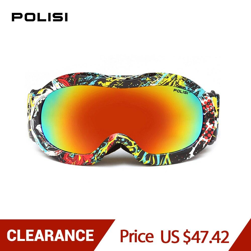 POLISI polarisé enfants enfants lunettes de Ski Sports de plein air d'hiver Ski snowboard lunettes Motocross protection