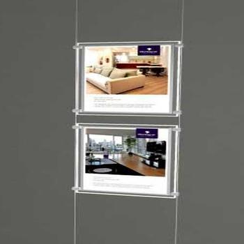 цена на (2unit/Column) A4 Single Sided Magnetic Front Panel Real Estate Agent LED light Panel,LED Landscape Displays Lightbox