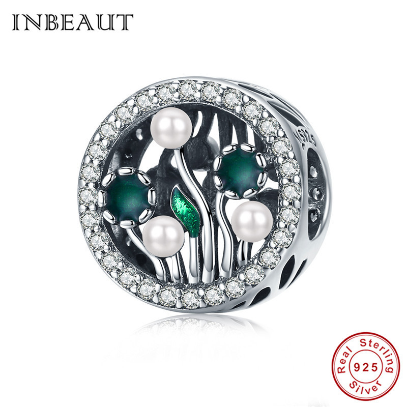 The Kiss Strong Cactus Glittering Green CZ 925 Sterling Silver Bead For European Charm Bracelet