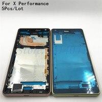 5 шт./лот для sony Xperia X Performance XP F8131 F8132 спереди ЖК-дисплей Ближний рамка Шасси Корпус чехол + боковые кнопки