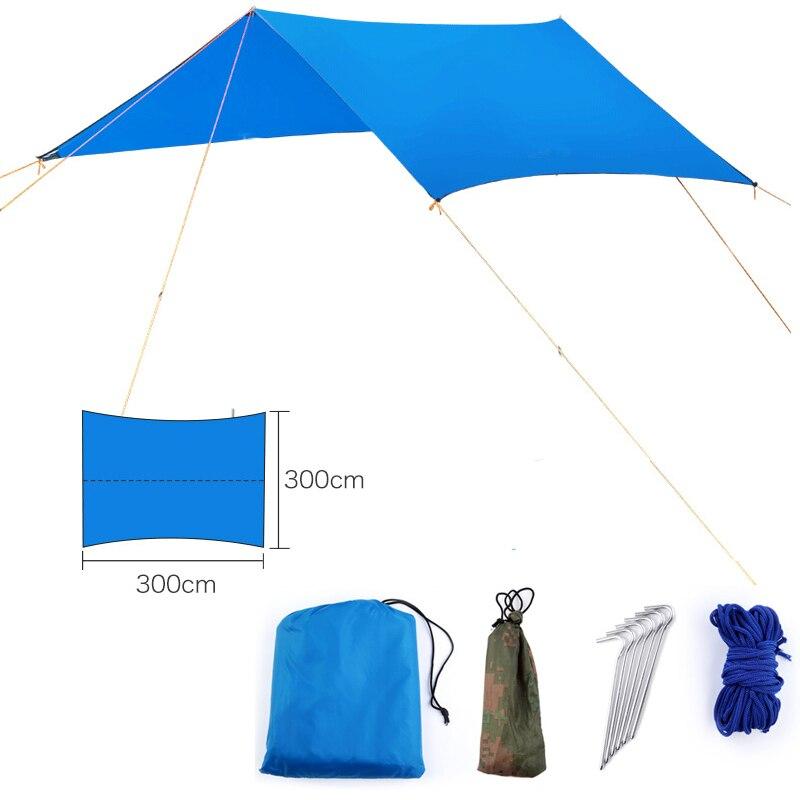 , Открытый портативный гамак тент висячая палатка износостойкий большой многофункциональный коврик складной УФ-защита Водонепроницаемый