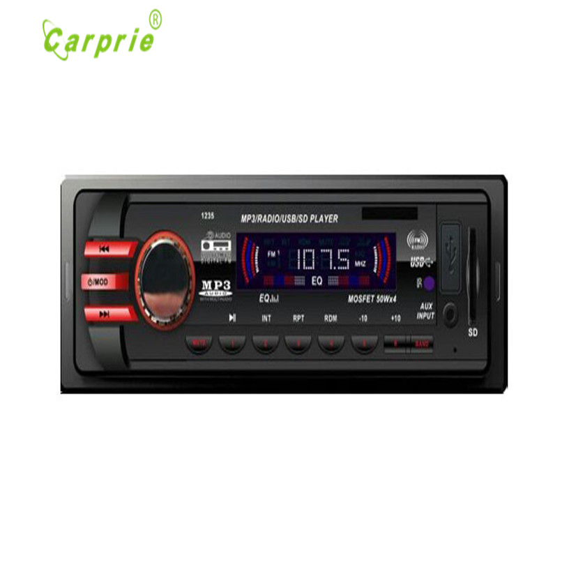 Hot Selling Car Audio Stereo In Dash FM With Mp3 Player USB SD Input AUX Receiver 1235 Gift Jun 14