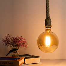 LED Edison Bulb G150 Filament Lamp 4W AC220V Warm Yellow Ampoule Hemp Rope Socket Classic Design For Party Wedding Decoration(China)