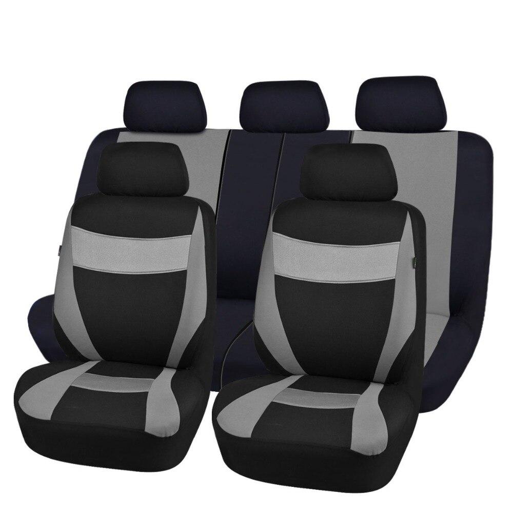 Car-pass Fundas de asiento de automóvil Gris Azul Rojo Colores Tela - Accesorios de interior de coche - foto 5