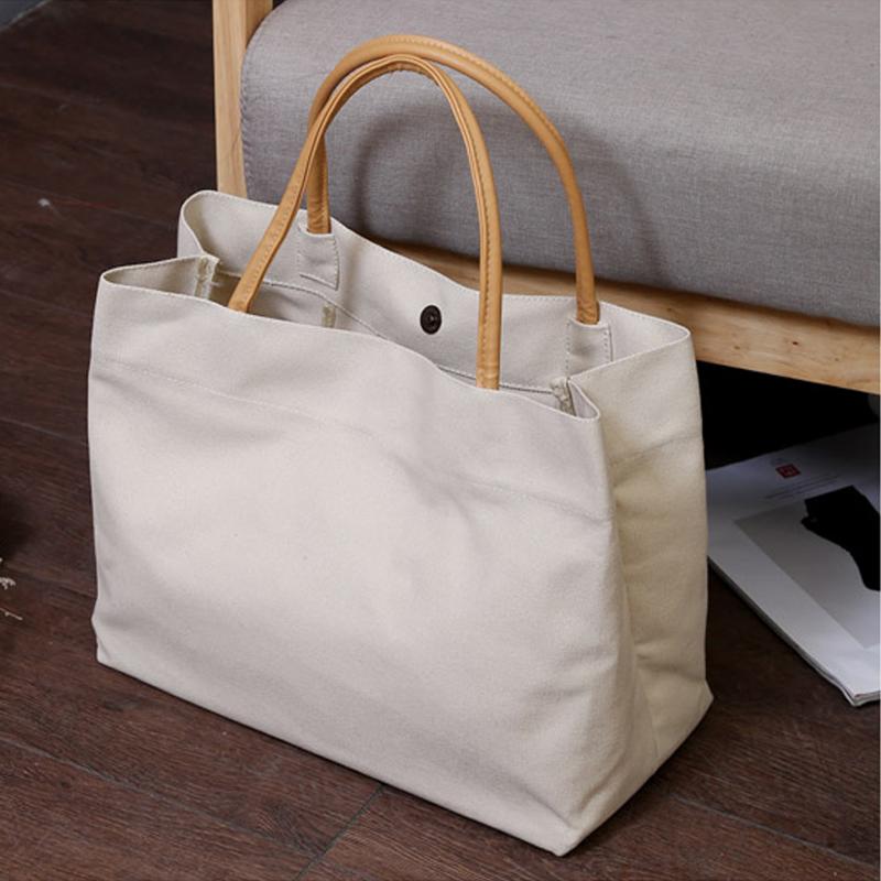 2019 New Women Canvas Tote Bag Fashion Korean Cloth Reusable Shopping Bag Leisure Shoulder Large Capacity Eco Shopper Bags
