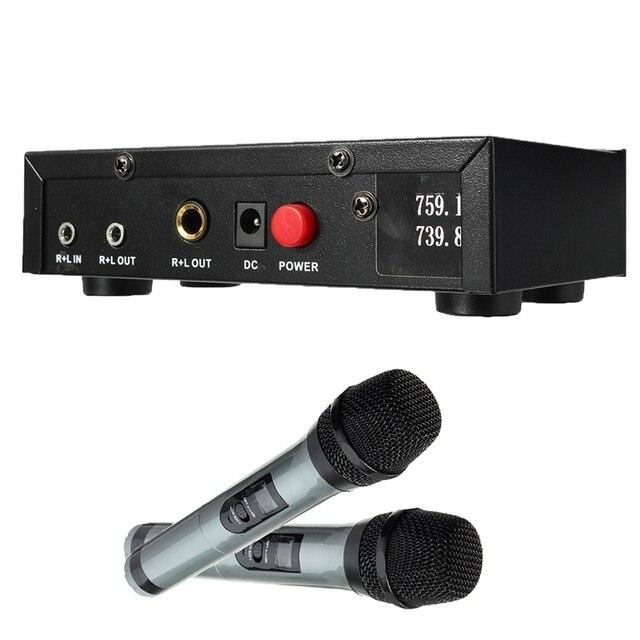 ELEGIANT UHF Bluetooth Беспроводной Микрофон Ручной Микрофон Приемник Системы Микрофоны Студии Экран С 1.5 В Батареи