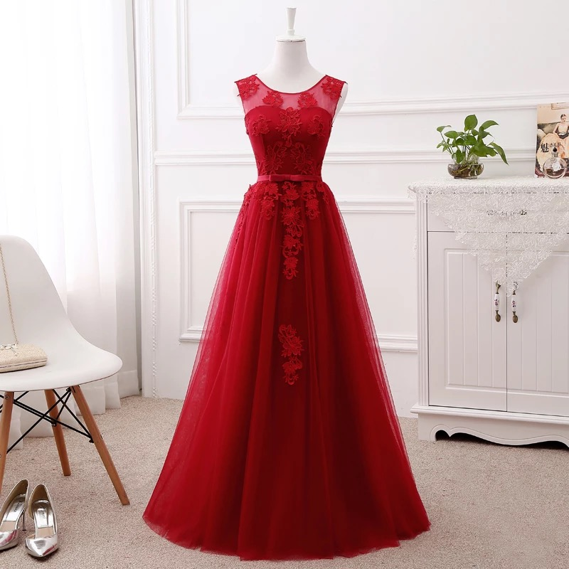 A line Lace Bridesmaid Dresses Long Formal Elegant Simple Women Formal Party Gowns Many Colors Vestido