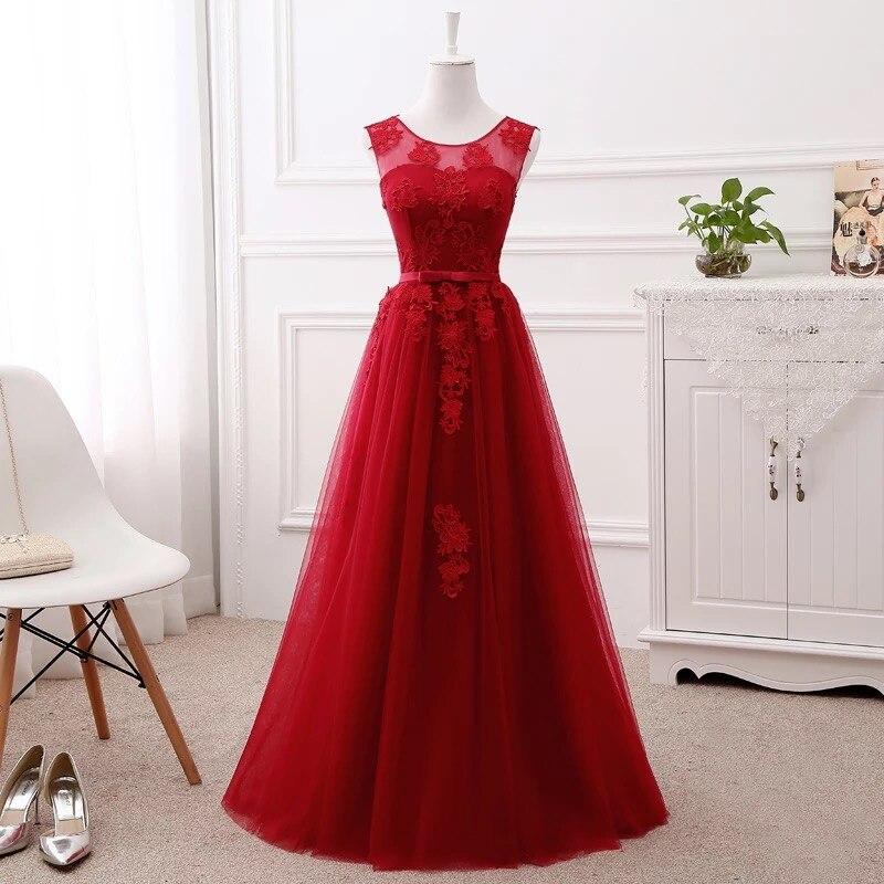 A-ligne dentelle robes De demoiselle d'honneur longue formelle élégante Simple femmes robes De soirée formelles De nombreuses couleurs Vestido De Festa BS03