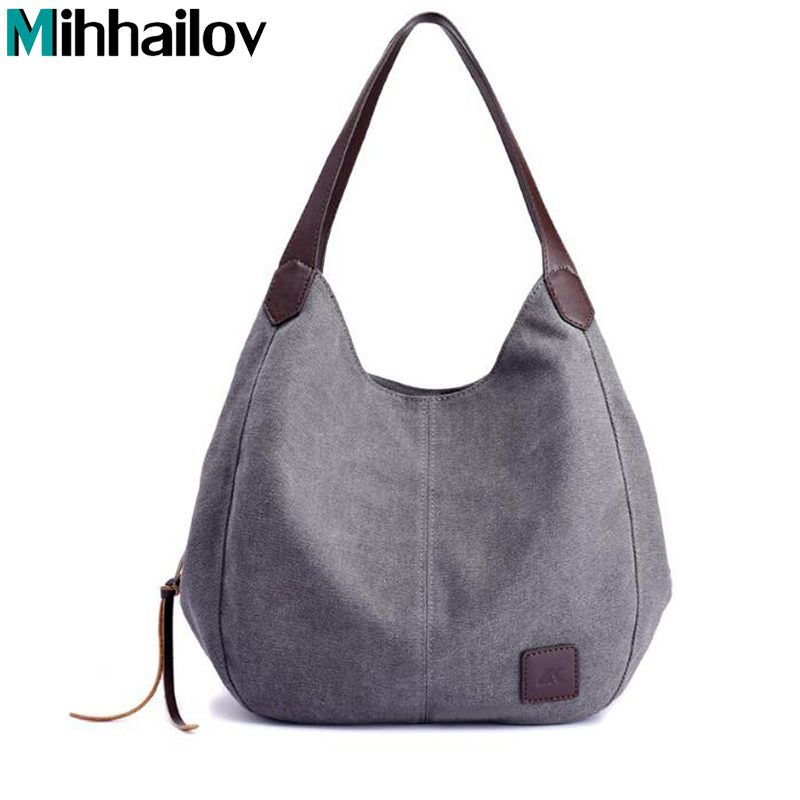 Canvas Bag Vintage Canvas Shoulder Bag Handbags Ladies Hand Bag Tote Leisure Bolsos Mujer Hobos Bolsas Feminina
