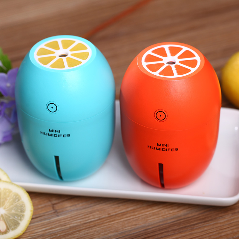 Creative Lemon Style USB Ultrasonic Air Humidifier With Colorful Led Light Essential Oil Aroma Diffuser Auto Off Touch Switch