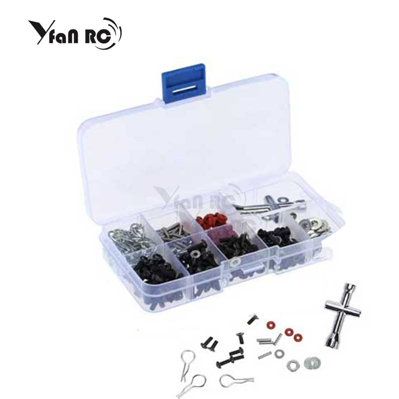 Yfan Free Shipping RC car 1/10 HSP 94123 94111 tools Special Repair Tools and Screws Box Set for include 270 Pcs Hexagon Wrench(China)