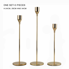 3pcs/set Golden Candlestick Candelabra for Wedding Party Dinner Christmas Decoration Candle Holders
