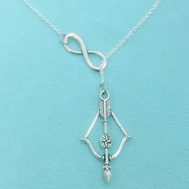 Pemanah dan Panah Terbaik Teman 8 Pesona Liontin Kalung Retro Lariat Gaya Y Kalung Fashion Alloy Membuat Perhiasan Wanita