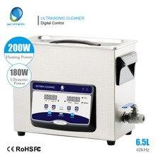 SKYMEN 6.5L 180W ultradźwiękowa z grzałką Timer ultradźwiękowa kąpiel do czyszczenia PCB części metalowe