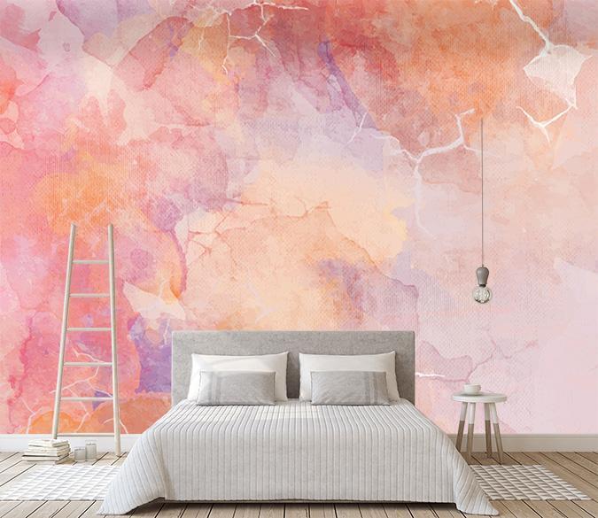 [Self Adhesive] 3D Ink Texture Fashion Pink 23 Wall Paper mural Wall Print Decal Wall Murals