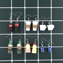 Cute Coffee Cola Drink Earrings earring candy costume trendy Style woman girl Jewelry Drop shipping