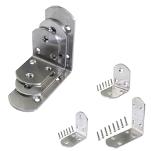 Fixed-Connector Furniture Screws Corner-Joint Right-Angle Stainless-Steel with 50x38