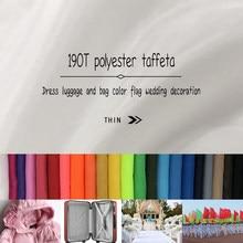Tissu de doublure en Polyester, 1M x 1.5M 190T, pour doudoune, 190T, tissu de doublure en Polyester, tissu pour drapeaux colorés
