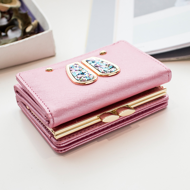 New lady purse girl short purse student cute mini wallet bag small purse Women Small Clutch Female Purse Coin Holder mara s dream new arrival small dot zero printed girl s coin purses wallet bag pouch brand lady mini wallet with metal buckle