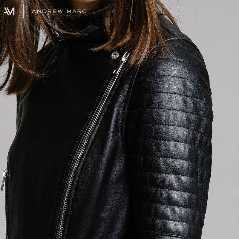 de274ef1b69 ANDREWMARC 2017 Women Sheepskin Genuine Leather Jacket Cost Slim Real  Leather Coat Coats Woman Clothing TW7A1023-in Leather   Suede from Women s  Clothing on ...