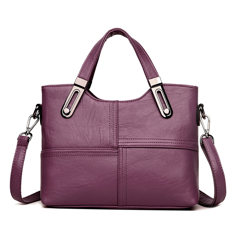 Fashion OL Style Tote Bag Ladies Shoulder Bags Hot Sale Patchwork Bag Women Messenger Bags Women Genuine Leather Handbags genuine leather women s shoulder bag fashion patchwork plaid women cross body bags colorful tote lady messenger bag