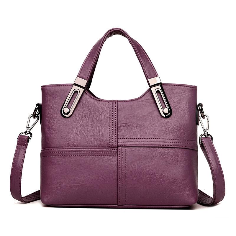 купить Fashion OL Style Tote Bag Ladies Shoulder Bags Hot Sale Patchwork Bag Women Messenger Bags Women Genuine Leather Handbags по цене 1641.46 рублей