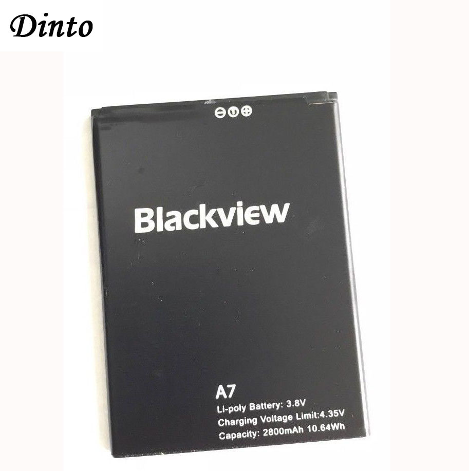 Dinto 1pcs High Quality 2800mAh Blackview A7 Mobile Phone Battery For Blackview A7 Pro Replacement Batteries