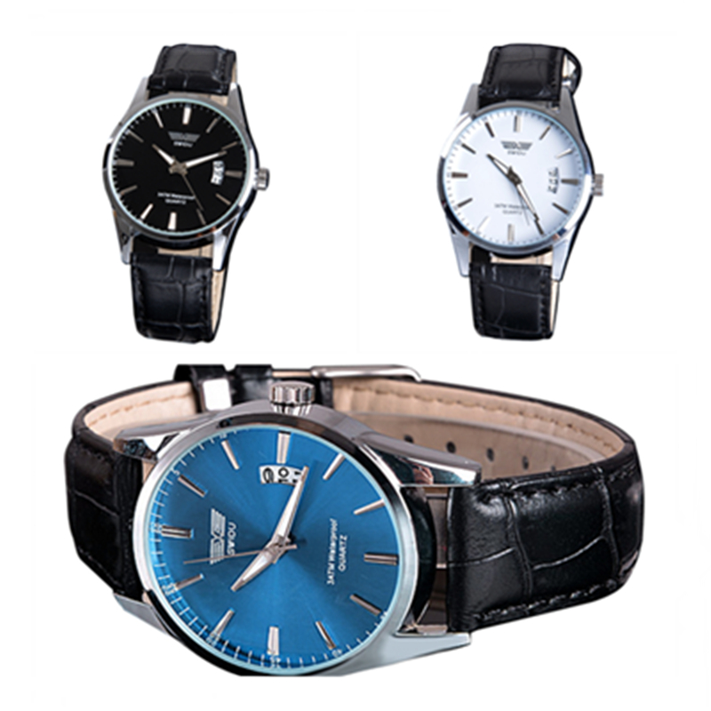 3PCS Quartz Watches Men Famous Wristwatch Military Sports Men Watch Outdoor Clock Date Leather Band relogio masculino 3 Colors