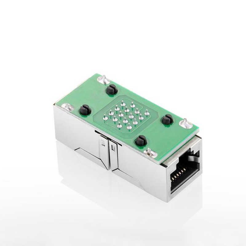 Xintylink rj45 conector rg45 cat6 cat5e Doble Adaptador de cable ethernet rg rj 45 extensor de red stp lan hembra socket