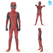Kid Deadpool Cosplay Costume Mask Zentai Wade Winston Wilson Superhero Bodysuit Suit Jumpsuits