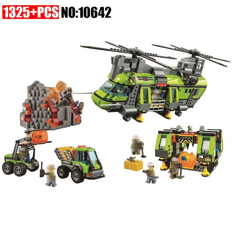 10642 City Police Volcanic Expedition Heavy Air Helicopter Assembly Building Blocks Bricks Toy Gift Brinquedos Compatible 6012510642 City Police Volcanic Expedition Heavy Air Helicopter Assembly Building Blocks Bricks Toy Gift Brinquedos Compatible 60125