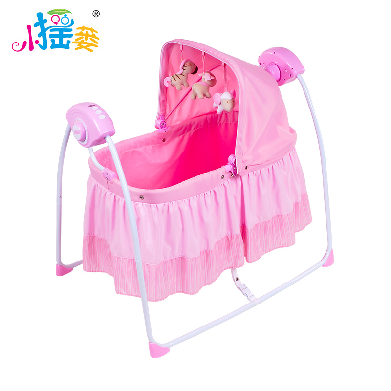 Prim baby cradle pink and blue color auto-swing help baby sleep well MP3 Bluetooth function цена 2017