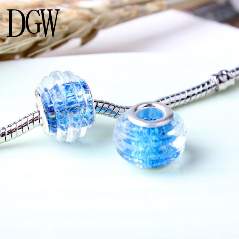 DGW 15 kinds of style European Murano Glass Beads Fit Pandora Bracelet & Necklace Pendant Authentic Accessories 1PCS