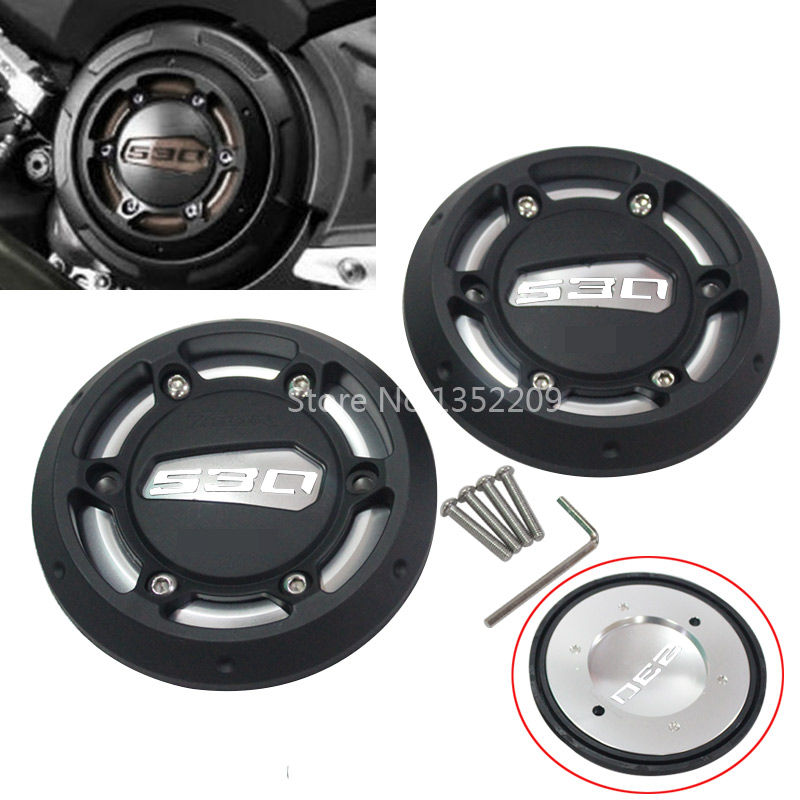 Pair Aluminum Alloy Aluminum Engine Protector Covers for Yamaha TMAX530 2012 2015 TMAX500 2008 2011