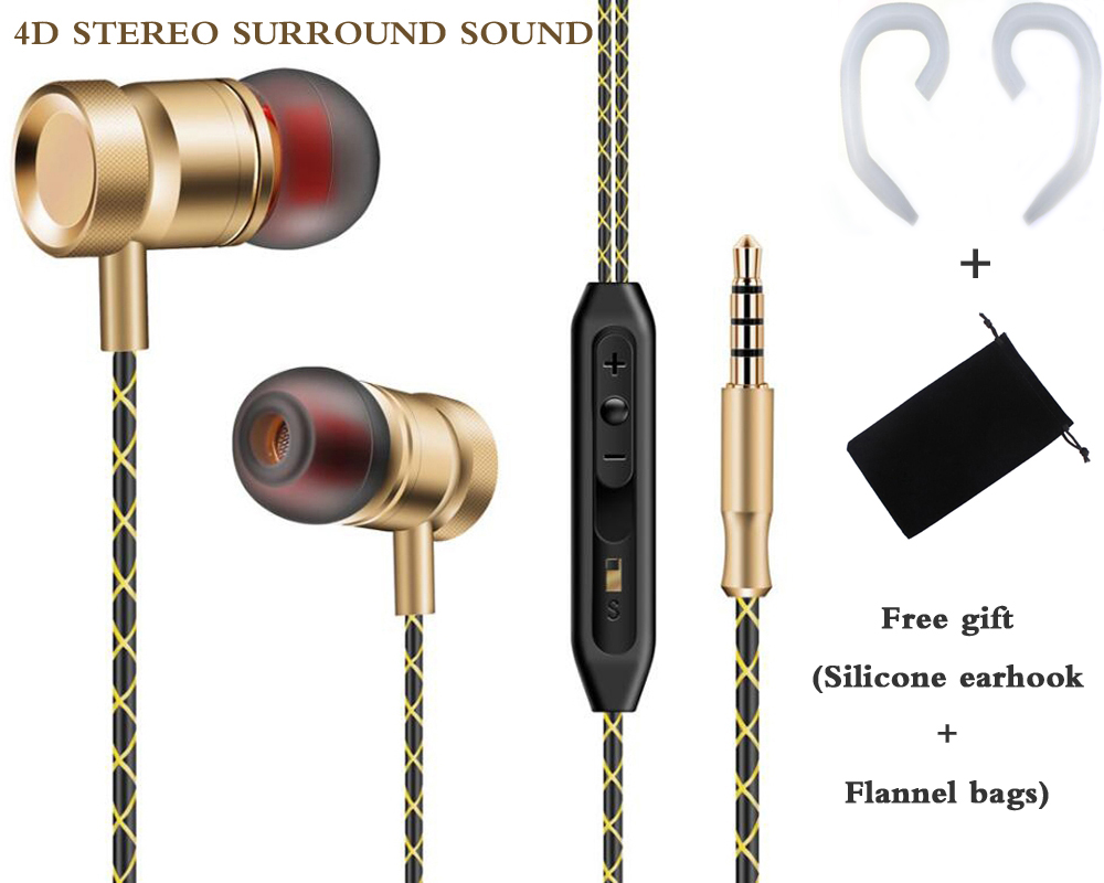 Original metal piston earphone FG003 Stereo bass headphone sport Headset running earbuds with mic for iPhone xiomi phones mp3 plextone x46m in ear earphone removable metal 3 5mm stereo bass earbuds gaming headset with mic for computer phone iphone sport