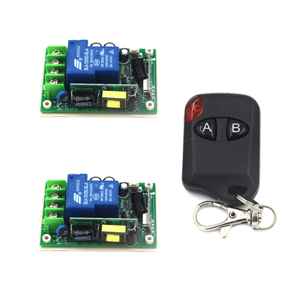 Industrial remote controller switch 1transmitter+2receiver high power remote control AC85V-250V 30A SKU: 5272 high quality infrared receiver module ir remote controller