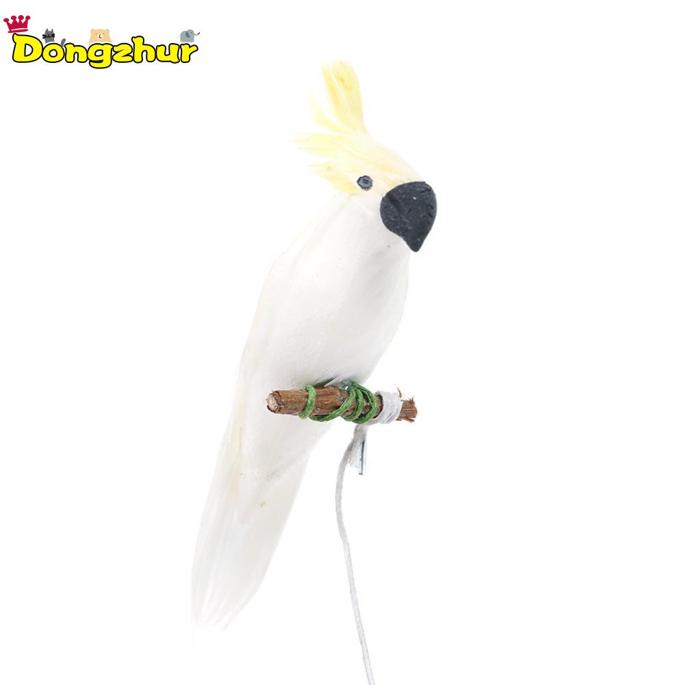 Doll Houses Realistic Dongzhur New 1:12 Cute For Mini Dollhouse Miniature Adornment White Clay Parrot Bird Furniture Kids Gifts Girls Toys Wwp0904 Dolls & Stuffed Toys