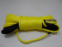 free shipping 10mm*30m synthetic winch rope for auto parts,atv winch rope for electric winch