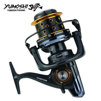 YUMOSHI fishing reel TK8000 10000 metal fishing reels 14+1BB long shot casting spinning wheel carp salt water surf spinning reel