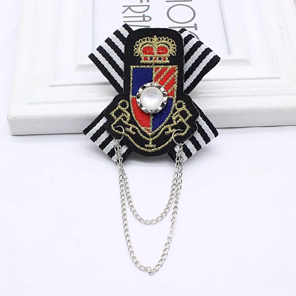 2019 Vintage Bros Hot Sale Berlapis Trendi Jangkar Pecinta Brocade Wanita Inggris Bros Angkatan Laut Angin Lencana Pria College Sesuai dengan Pin