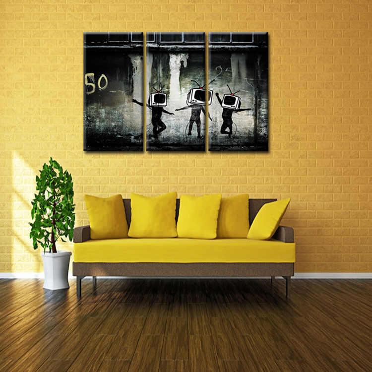 Фабрика граффити плакат серии живопись пользовательские холст печать на холсте, печать настенные панно украшение дома/разноцветный абстрактный (45)