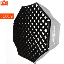 "Godox 120 см/47 ""сетка для 120 см зонтик фото Octagon Softbox riflettore для вспышки Speedlight"