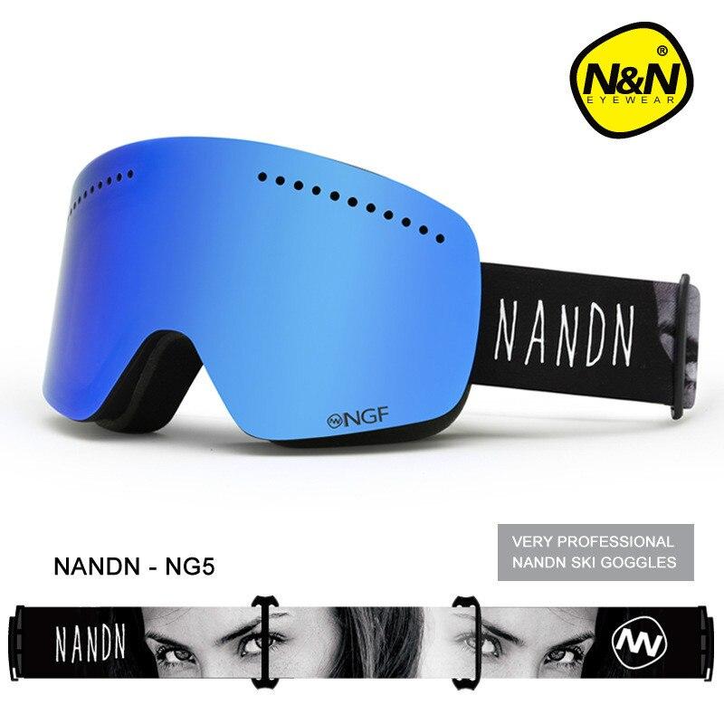 NANDN Unisexe Ski Lunettes Double UV Anti-brouillard Big Ski Masque Lunettes Femmes Hommes Ski Neige Snowboard Lunettes Multifonction lunettes - 3