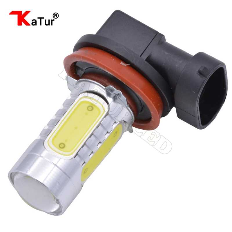 1pcs Katur H8 H11 Led Car Lights 7.5W COB Led Driving Running Lights Fog Light Car Led Bulb 500Lm 6000K White For LED Lights
