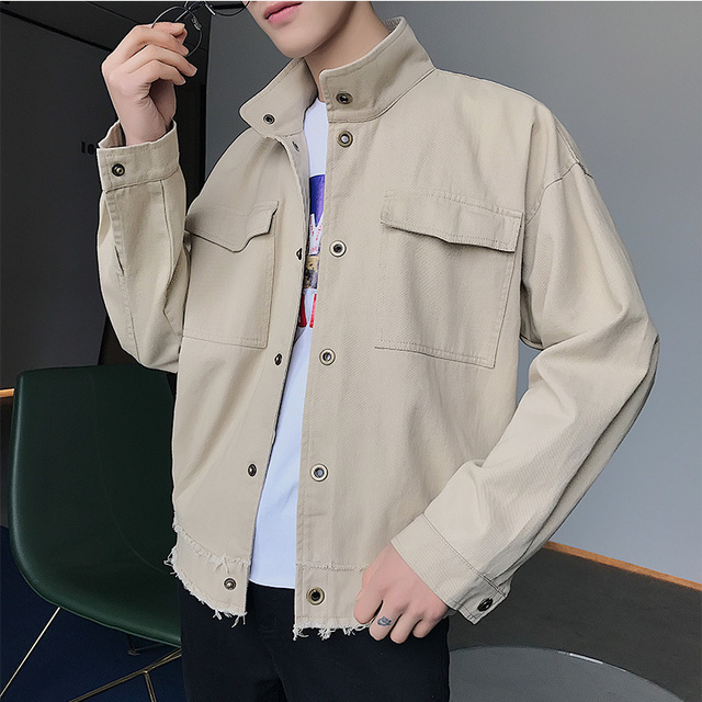 2018 Newest Men S Korean Style Coats Fashion Clothes Loose Casual