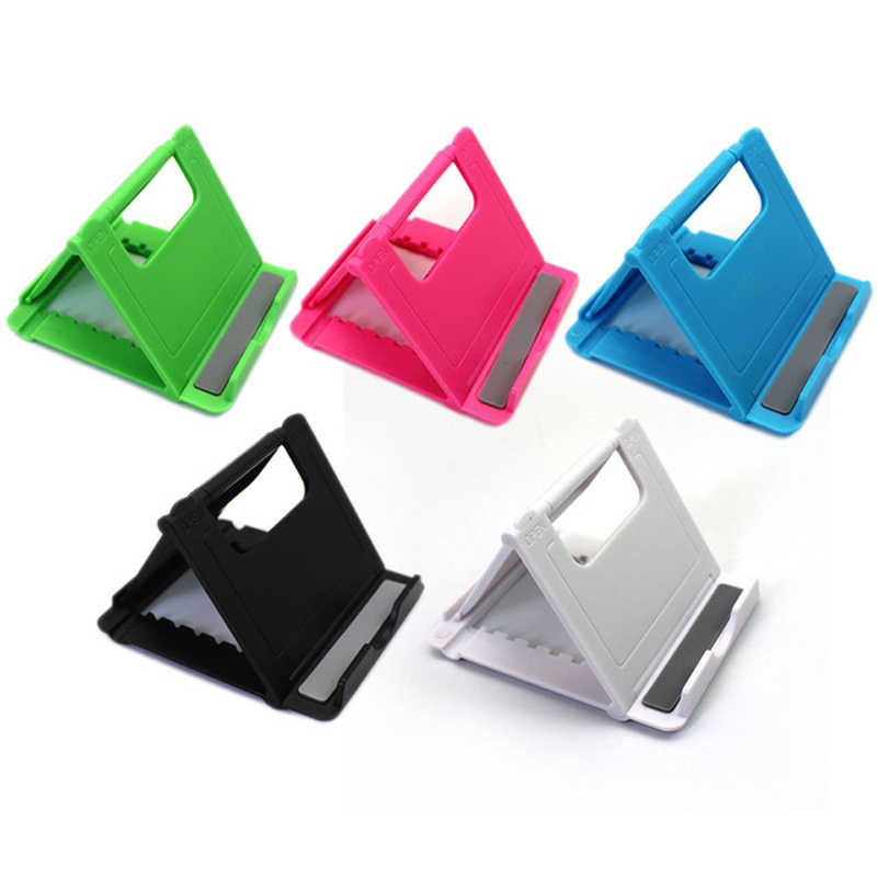 Universal Folding Table cell phone support Plastic holder desktop stand for your phone Smartphone & Tablet Support Phone holder
