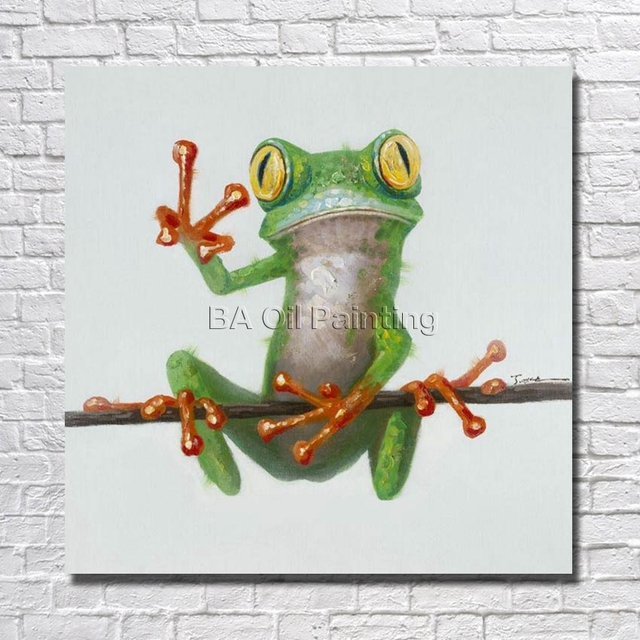 Very best Hand Painted Oil Painting On Canvas Abstract Frog Paintings Modern  DA27