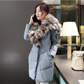 Winter Jacket Women Big Raccoon Fur Collar 2016 women coat new winter down cotton thick warm pockets casual fashion coat